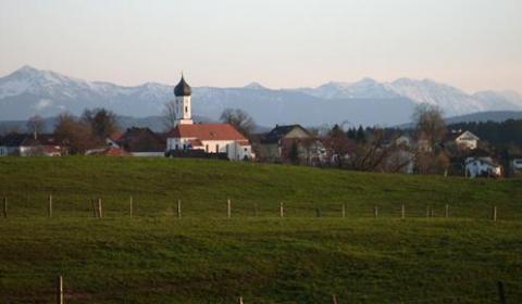 Blick aus dem Haus von Nathalies Großeltern auf Samerdorf